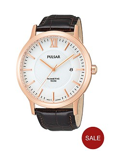 pulsar-kinetic-rose-gold-brown-leather-strap-mens-watch