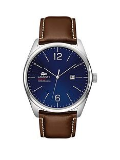 lacoste-classic-round-blue-dial-stainless-steel-brown-leather-strap-mens-watch
