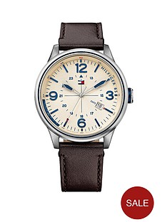 tommy-hilfiger-vintage-round-3-hand-brown-leather-strap-mens-watch