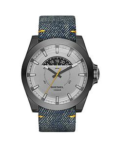 diesel-arges-silver-dial-and-gunmetal-tone-denim-strap-mens-watch