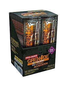 grenade-50-calibre-pre-workout-energy-boost-powder-25-x-2-serving-satchets-berry-blast-with-free-gift