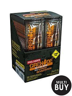 grenade-50-calibre-pre-workout-energy-boost-powder-25-x-2-serving-satchets-lemon-raid