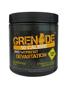 grenade-50-calibre-pre-workout-energy-boost-power-232g-lemon-raid-with-free-gift