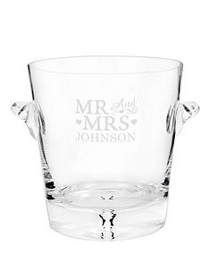 personalised-mr-mrs-glass-ice-bucket