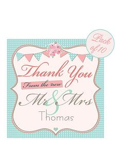personalised-vintage-bunting-wedding-thank-you-cards-pack-of-10