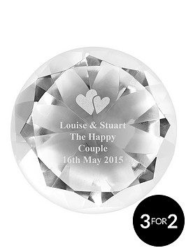 personalised-hearts-crystal-paperweight