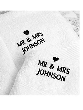 personalised-couples-bath-and-hand-towel-set
