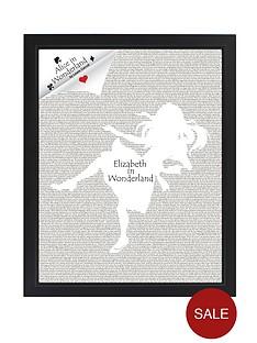 personalised-alice-in-wonderland-novel-print