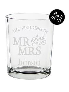 personalised-mr-mrs-glass-tealight-holders-pack-of-10