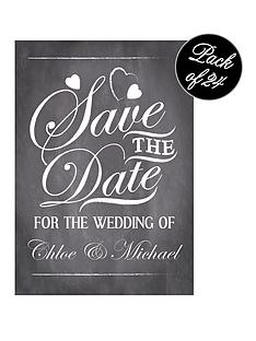personalised-vintage-chalkboard-save-the-date-cards-pack-of-24