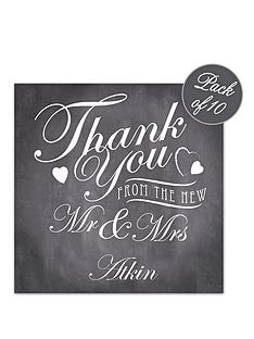 personalised-vintage-chalkboard-wedding-thank-you-cards-pack-of-10