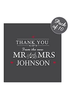 personalised-mr-mrs-wedding-thank-you-cards-pack-of-10