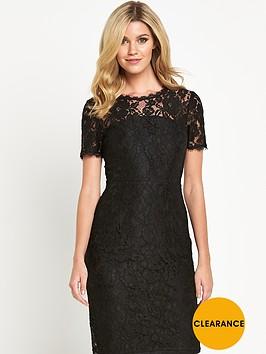 definitions-petite-bow-back-lace-dress