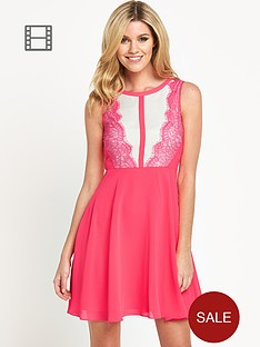 definitions-lace-neon-skater-dress