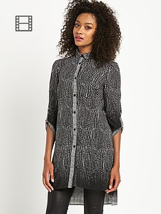 definitions-longline-mono-print-blouse