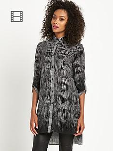 definitions-longline-mono-print-blouse