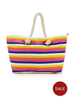 stripe-print-beach-bag
