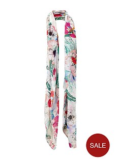 french-connection-floral-print-scarf