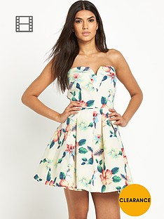 ax-paris-floral-skater-bandeau-dress