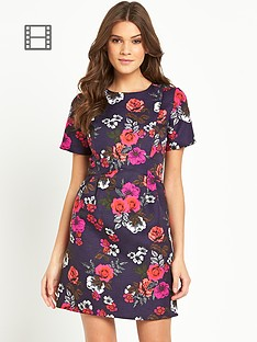 oasis-fusion-rose-jacquard-dress