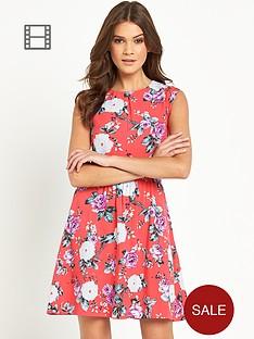 oasis-coral-rose-skater-dress