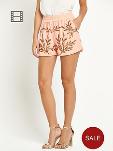 vero-moda-eola-beaded-shorts