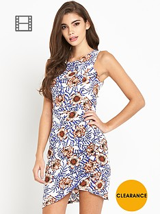glamorous-twist-front-sleeveless-floral-dress