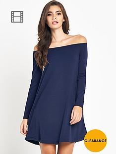 glamorous-off-the-shoulder-swing-dress