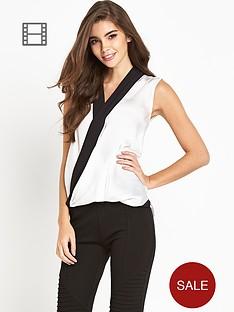lipsy-michelle-keegan-mono-sleeveless-wrap-blouse
