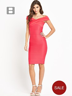 lipsy-rib-neck-bardot-dress