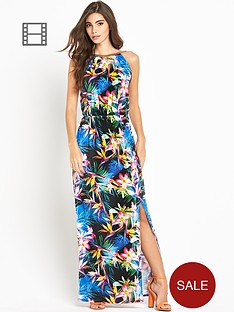 lipsy-chain-neck-print-maxi-dress