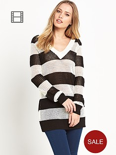 south-mesh-striped-jumper