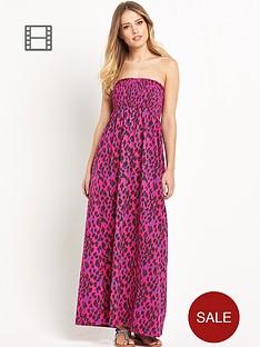 south-petite-animal-print-smocked-maxi-dress