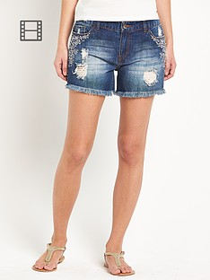south-embroidered-distressed-shorts