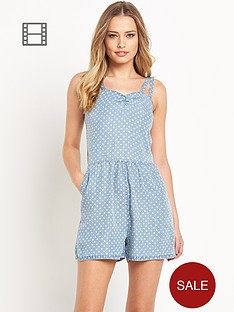 love-label-denim-polka-dot-playsuit