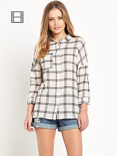 south-check-print-cheesecloth-shirt