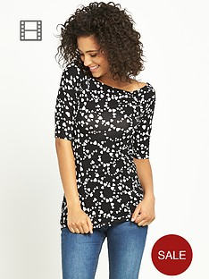 south-love-heart-print-top