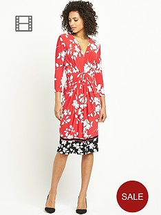 south-petite-border-print-workwear-dress
