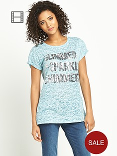 south-burn-out-embellished-slogan-t-shirt