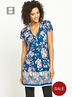 south-v-neck-floral-print-tunic