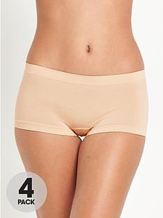 intimates-essentials-seamfree-shorts-4-pack