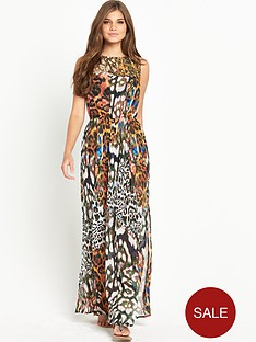 resort-animal-print-sheer-maxi-beach-dress