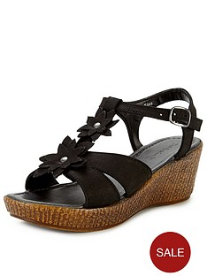foot-cushion-rosa-flower-wedge-sandals-black