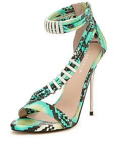 carvela-glisten-snake-print-strappy-sandals