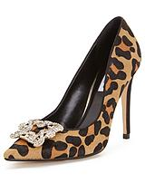 Breanna Jewelled Leopard Print Court Shoes