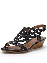 Playful Tunes Low Wedge Sandals