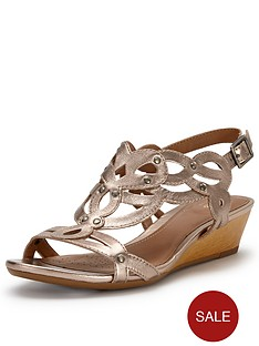 clarks-playful-tunes-sandals-gold
