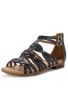 clarks-viveca-rome-flat-gladiator-sandals