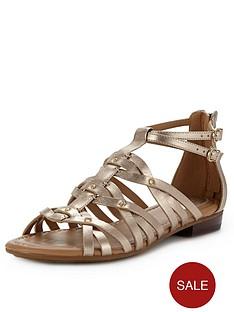 clarks-viveca-rome-gladiator-sandals-gold