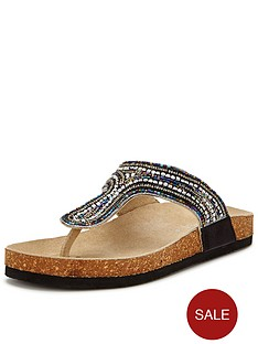 joe-browns-funky-footbed-leather-sandals